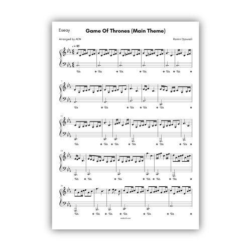 Game Of Thrones (Main Theme) - Ramin Djawadi (Eseay Piano)